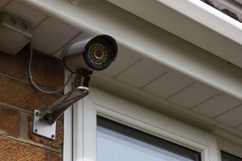 Security camera on a home for added security